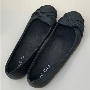 Black ALDO flats LIKE NEW